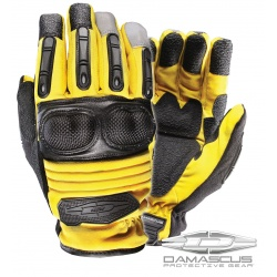 Extrication & Rescue Gloves w/ Hard Knuckles: Yellow